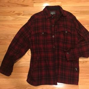 Woolrich stag shirt jacket, xl, red hunting plaid
